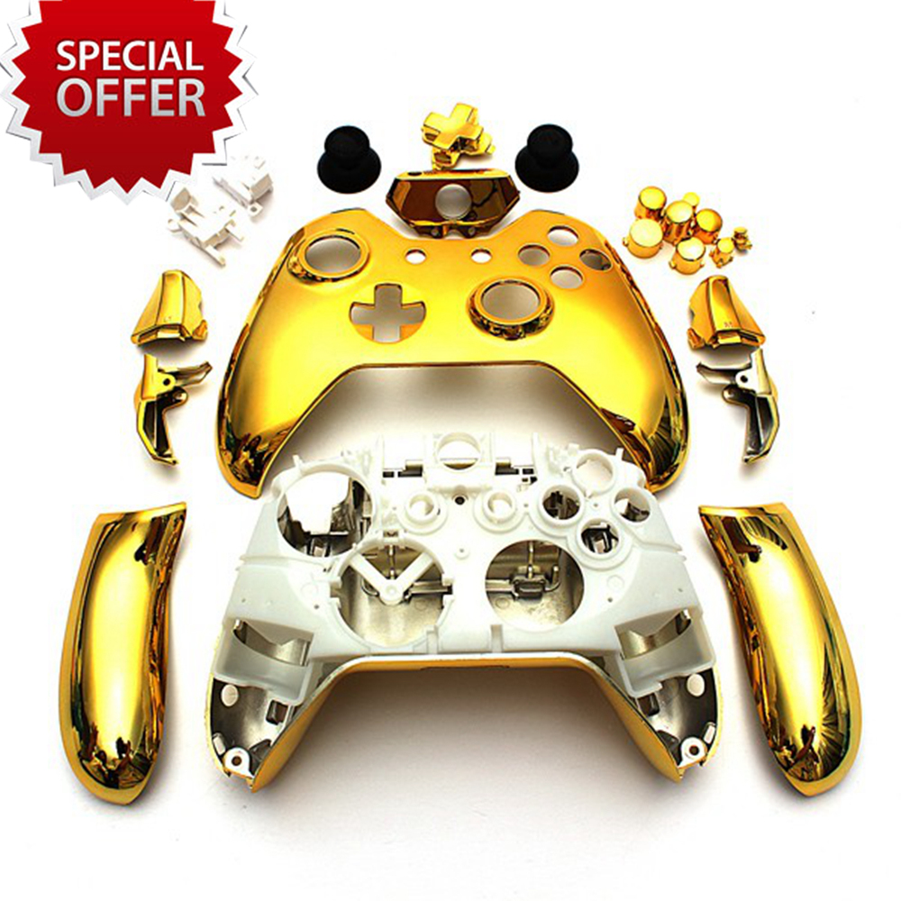 Chrome Gold Xbox One Controller Shell